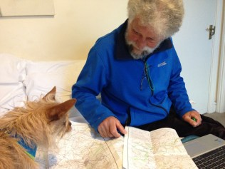 Hugo helping with plans
