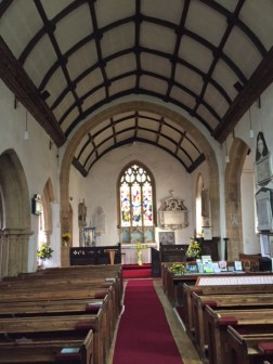 Interior of church facing the altar