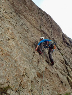 The slabs getting steeper on Slabs West Route