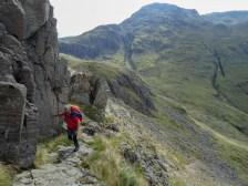 On the Climber's Traverse towards Kern Knotts