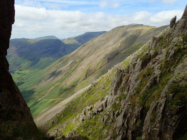 The view to Kirk Fell from Needle Gap