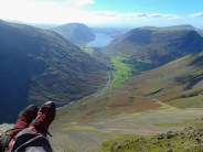 My view of Wasdale from the top of Eagle's Nest Ridge Direct