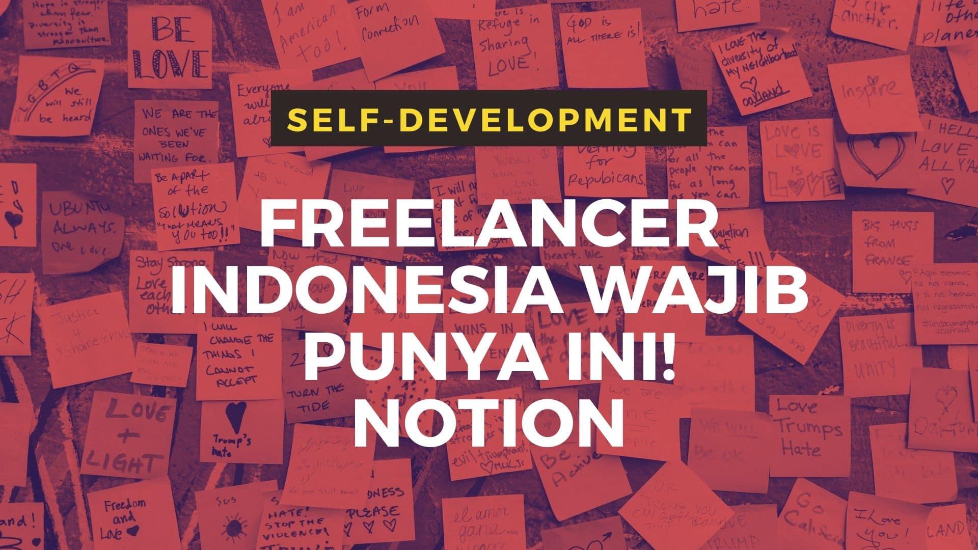 Freelance Indonesia Wajib Punya