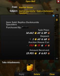Darkmantle spaulders SOLD