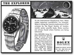 Rolex Explorer I Ad