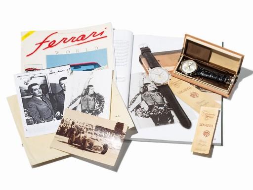 This is the actual watch given to Dorino Serafini who surrendered his car do Alberto Ascari 20 laps into the 1950 Italian Grand Prix