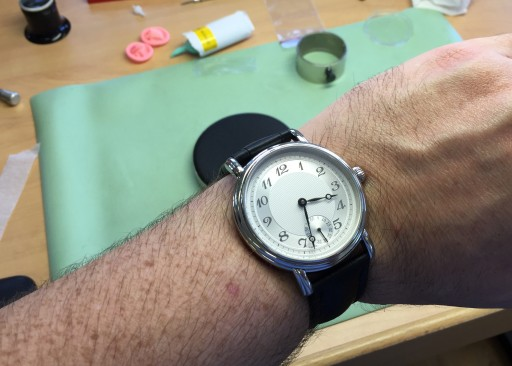 My own watch, constructed in Le Locle last week!