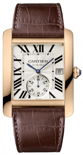 This Cartier Tank MC is $15,000 more in 18k gold