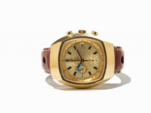 """This is a common (and ugly) gold-plated Omega Seamaster Chronograph not the desirable and rarer """"Jedi"""" model"""