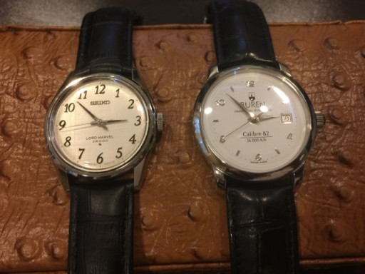 Two rare 10-beat (36,000 A/h) watches