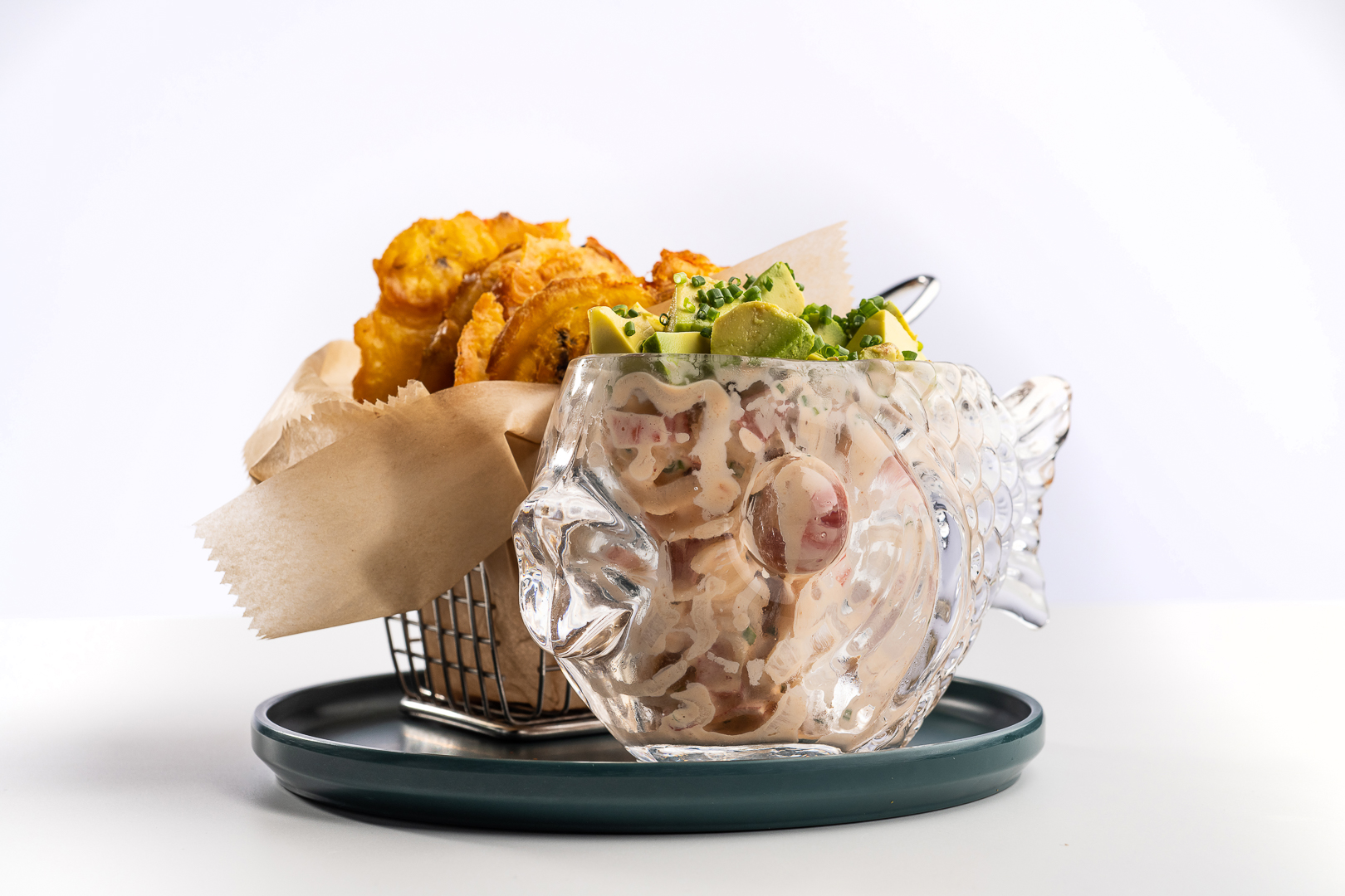Seafood Salad Tostones