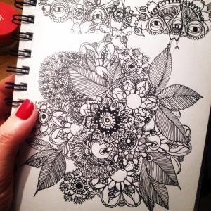 Février 4.Les détails #Flow29jours #flow #Flow29joursgraindevoie #sketchbook #blackandwhite #instamoment #feutre