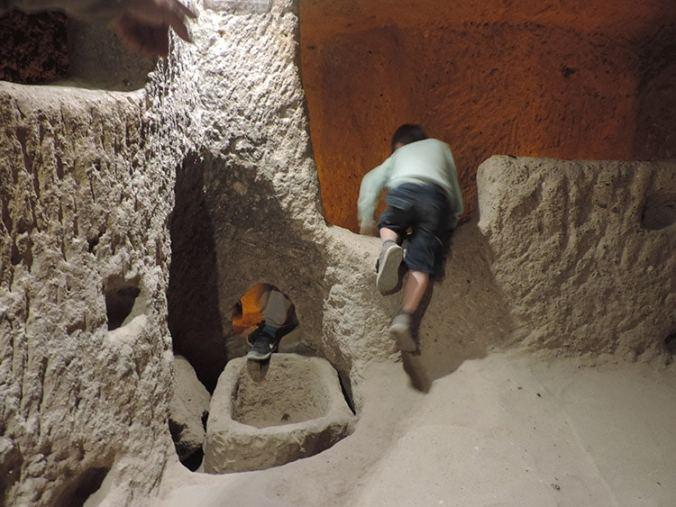cité troglodyte, Kaymakli, Cappadoce, Turquie