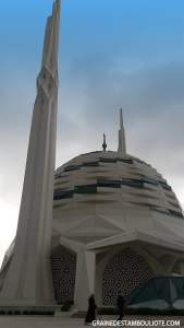 extérieur de la mosquée moderne Ilahiyat Université de Marmara Istanbul Turquie