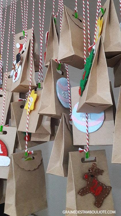 calendrier de l'avent de Noël diy avec accessoires achetés à eminonu istanbul