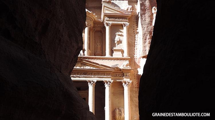 circuit en Jordanie Pétra siq et Khazneh le trésors