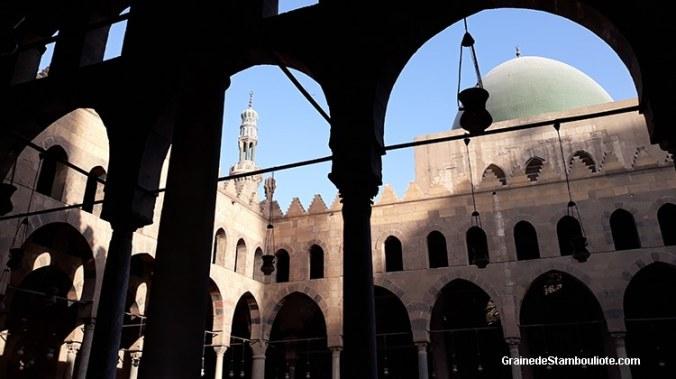 mosquée El-Nasir Mohammed IbnbQalaoun, style mamelouk, Citadelle du Caire, Egypte,
