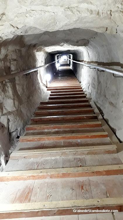 intérieur de la pyramide rhomboïdale, plateau de Dachour, Le Caire, Egypte