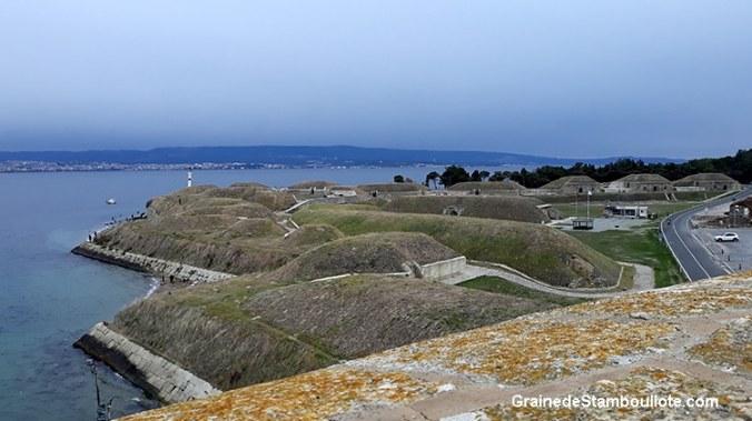 Bastion de la Prière ou Namazgah, ensemble de bunkers turcs sur la Péninsule de Gallipoli face au détroit des Dardanelles