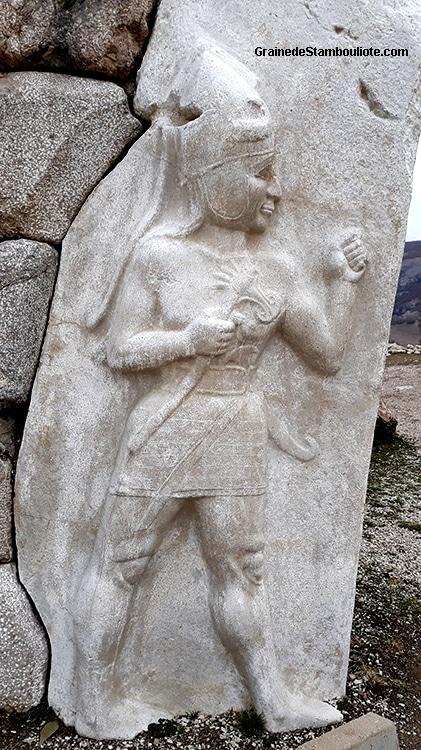 Porte du Roi de Hattusa, capitale Hittite, haut relief, dieu de la guerre