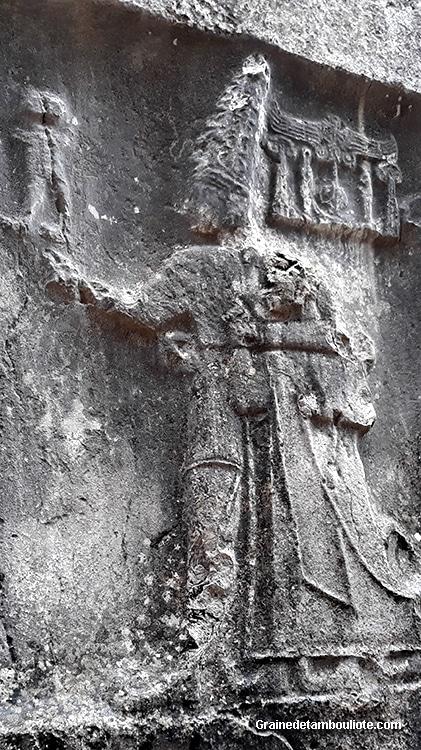 Roi Hittite Tudhaliya IV, fils de Hattusili III, sanctuaire de Yazilikaya, près de Hattusa, capitale Hittite