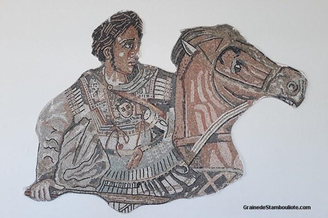 mosaïque d'Alexandre le Grand, Gordion, Noeud Gordien, Polatli, musée du tumulus du Roi Midas