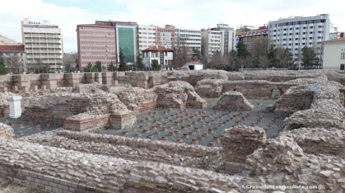 Thermes romains d'Ankara, vestiges antiques