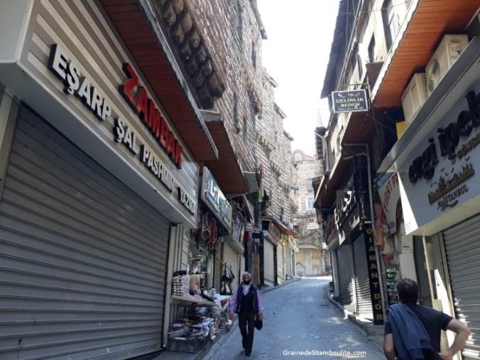 rues grand bazar istanbul pendant confinement