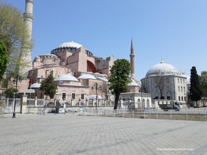 Sainte-Sophie pendant le confinement istanbul turquie
