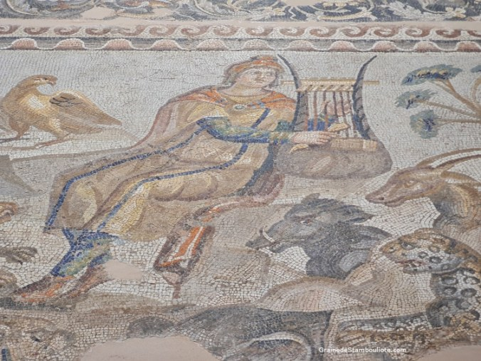 mosaïque musée archéologique Antakya, Hatay, Turquie, Appolon