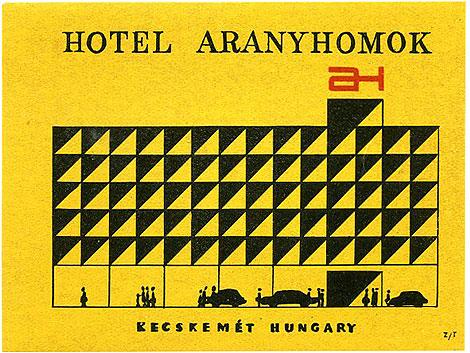 Hotel Aranyhomok via http://grainedit.com