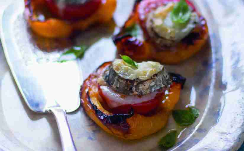 baked peppers with goats' cheese