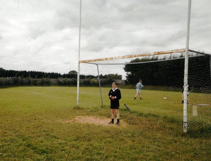 Grainne Mhaols Custodian Becky Heanue pictured in Caherlistrane prior to Grainne Mhaols 2003 County U14A  Championship semi final defeat to Corofin. It turned out to be a tough day at the office.