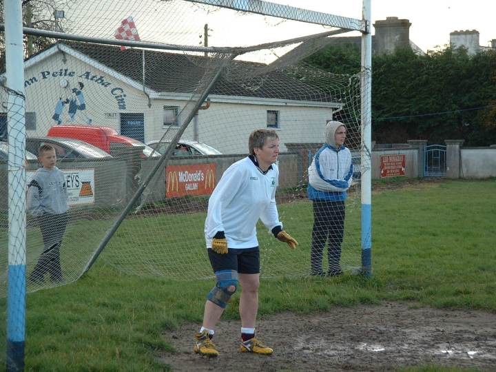 A Sudy In Concentration! Grainne Mhaols goalkeeper, Maire Cloherty keeps a close eye on proceedings during the 2002 County Junior B Championship Final against Milltown at Headford.