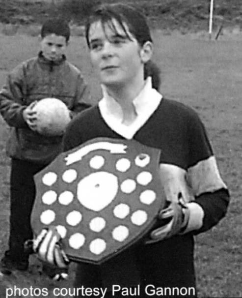 Lettergesh\Letterfrack Captain Mary Louise Walsh was the happy recipient of the Victory Shield after her side won the 2002 West Connemara INTO\GAA Mini-Sevens title for the first time ever.