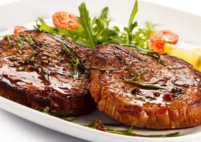 Grilled Steak with Apple Sauce