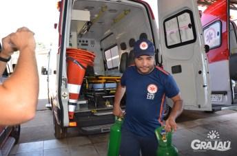Grajau recebe duas ambulancias do SAMU e uma retroescavadeira 03