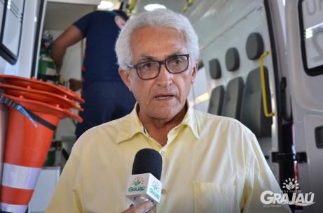 Grajau recebe duas ambulancias do SAMU e uma retroescavadeira 18