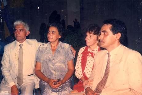 Carlos Neto e Mercial Arruda com esposas na posse de prefeito e vice-prefeito (Foto: Arquivo da Família)