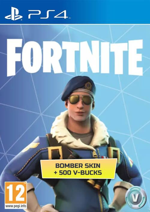 Fortnite Bomber Skin + 500 V-Bucks (PS4) za 70.55 zł w CDKeys