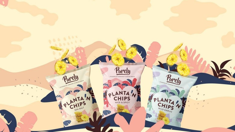 Packets of the 3 Purely Plantain flavours