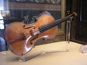 Spanish Stradivarius II of c. 1687, on exhibit...