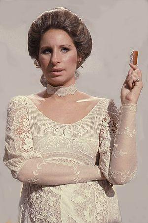 Portrait of Barbra Steisand taken in London du...