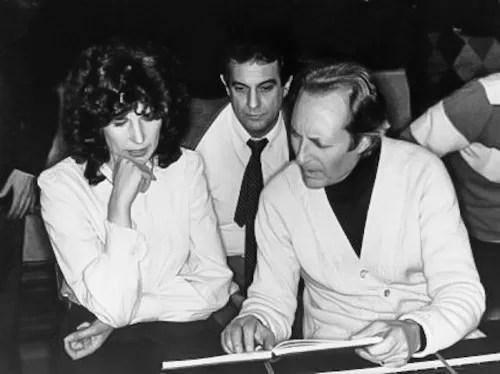 Deutsche Grammophon Recording session: Il Trovatore with Rosalind Plowright, Placido Domingo, Carlo Maria Giulini, 1984