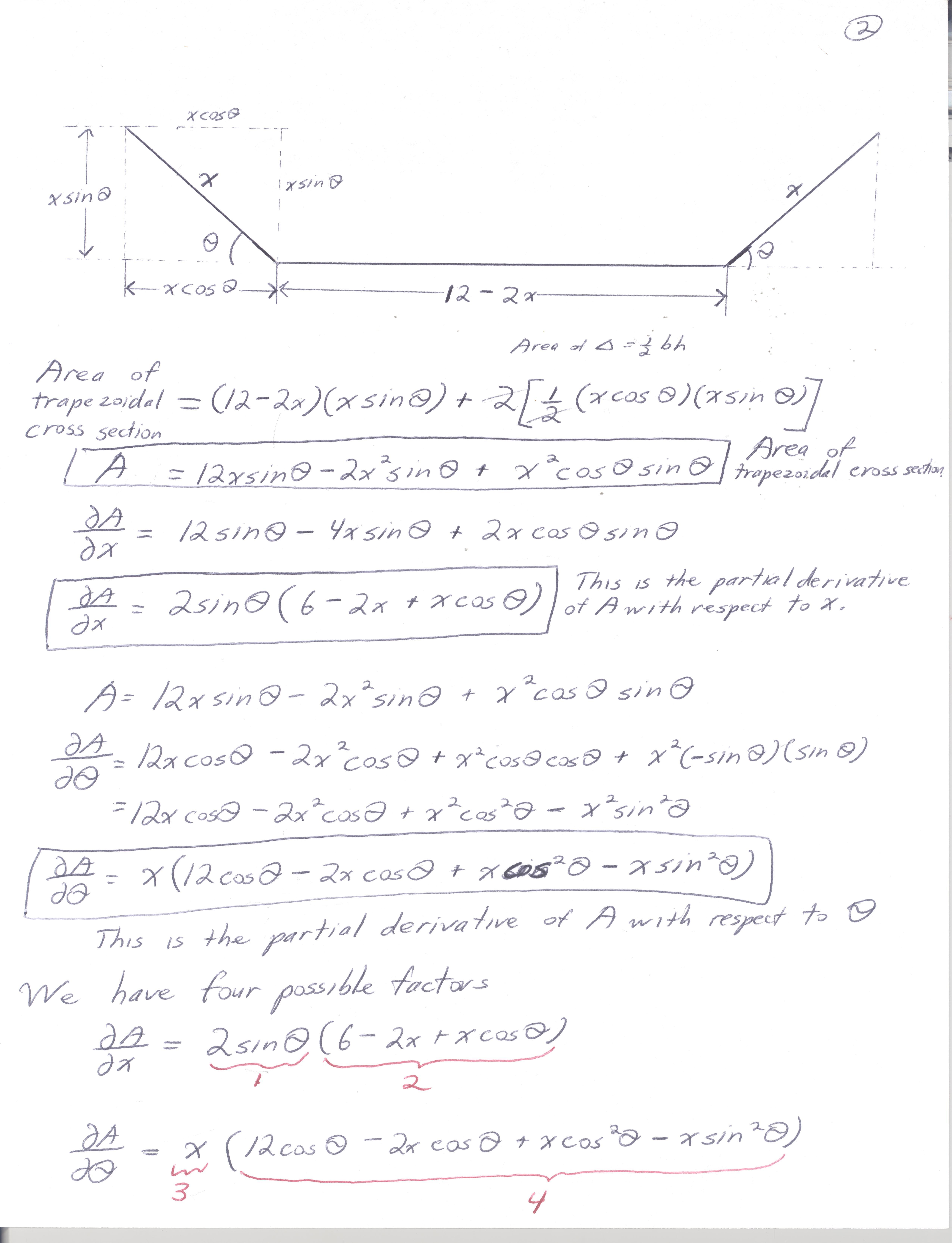 Max Min Solve Using Partial Derivatives Grammar