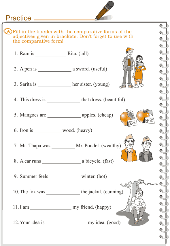 Grammar Grade 3 Grammar Lesson 5 Adjectives Comparison