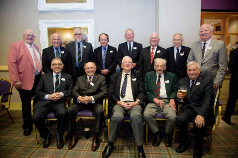 Members of the Class of 1951, including Bob Boomer, Raymond Boyd, Jim Brown, Jim Claney, Ronnie Drury, Ben Livingston, Billy Martin, Stanley McCormick, Peter Radcliffe, Jim Scott, Frank Shane, Jack Thompson and Maurice Watson