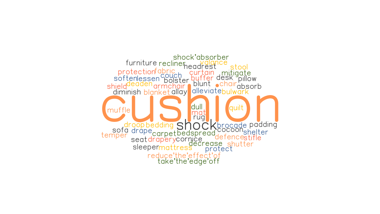 cushion synonyms and related words