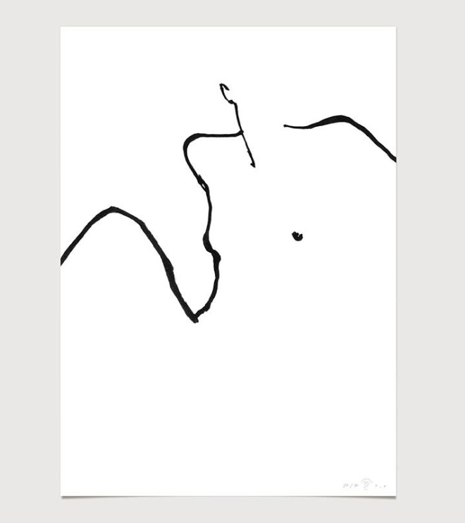 FredericForest_grammatical_LineDrawing_15_WomanWakingUp_50x70cm