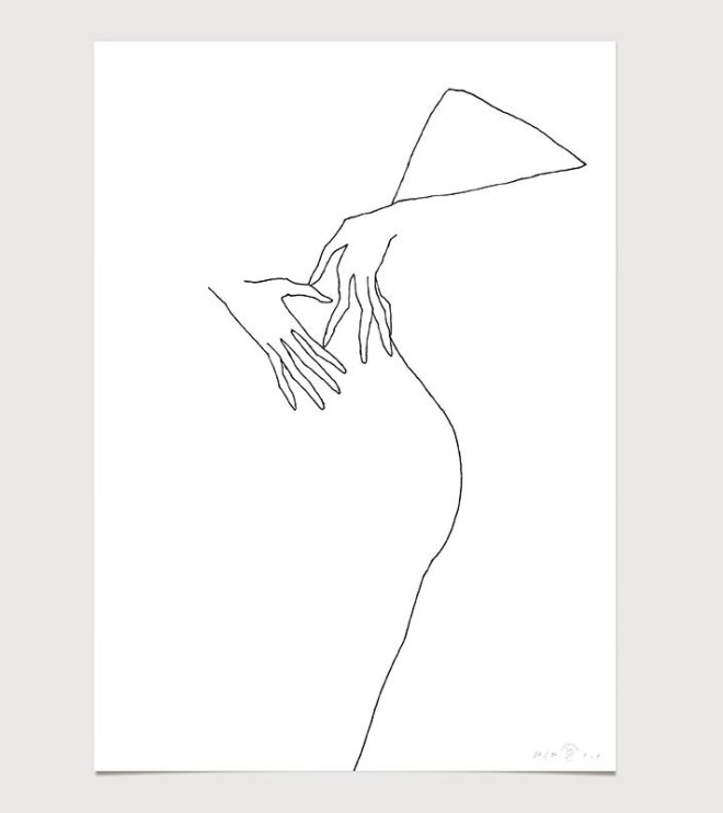 FredericForest_grammatical_LineDrawing_18_WomanDancing_50x70cm